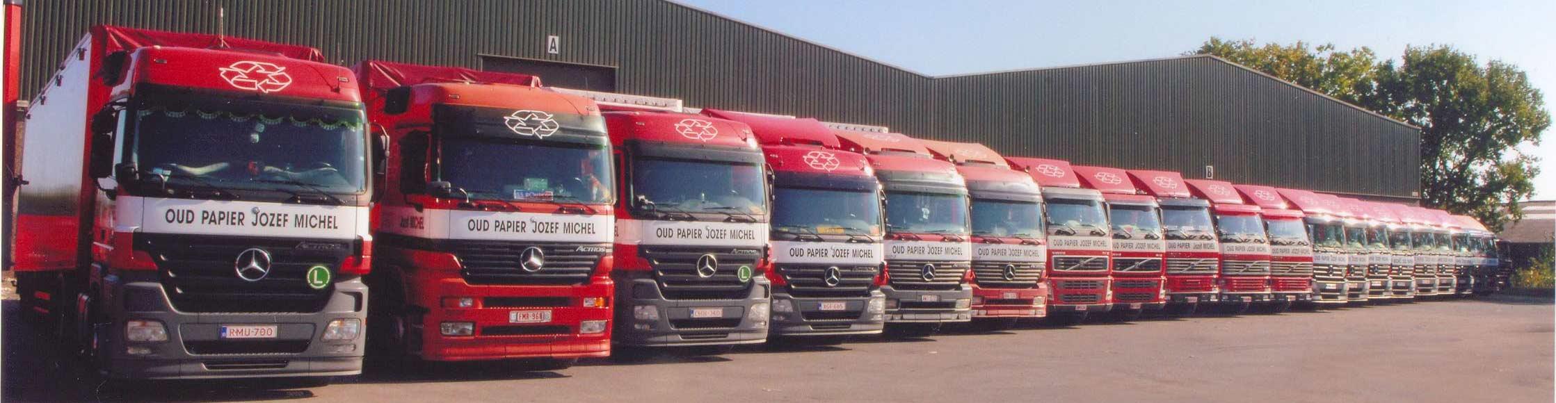 OPJM vloot van vrachtwagens