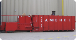 papierslag container